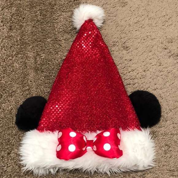 6b82ea4b9b068 Disney Accessories - Minnie Mouse Santa Hat